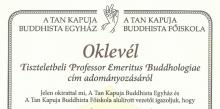 Professzori kinevezések A Tan Kapuján